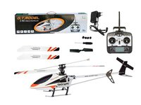 white 2.4G big size single blade alloy rc helicopter