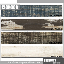 Wholesale outdoor impervious porcelain Small long lasting plain color wood pattern floor tile for house decoration