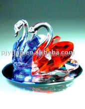 shinning crystal pair of swan