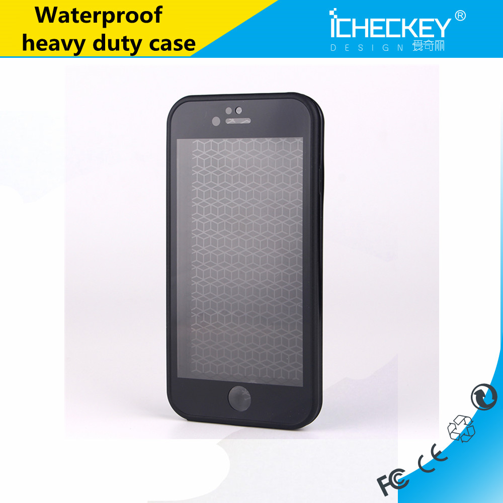 Icheckey waterproof TPU Protective Back Phone Case for iPhone 7 Case Transparent