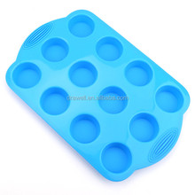 SS-4230 Cupcake Baking Molds 12 Cup Silicone Muffin Pan