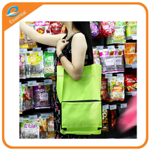 600D Oxford material foldable shopping trolley bag