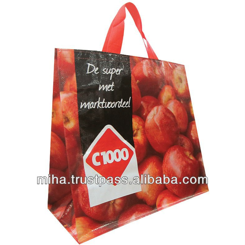 Woven polypropylene reusable Supermarket bags from factory Competitive prices Made in Vietnam Export to Germany