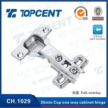 35MM Cup One way self closing nickel finish cabinet damper hinge