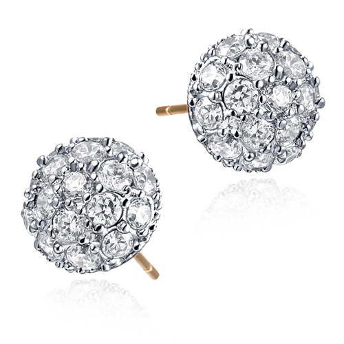 Ball shape fake industrial piercing earring bridal jewelry