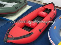 2013 fashion design PVC high quality inflatable kayak for one or two people