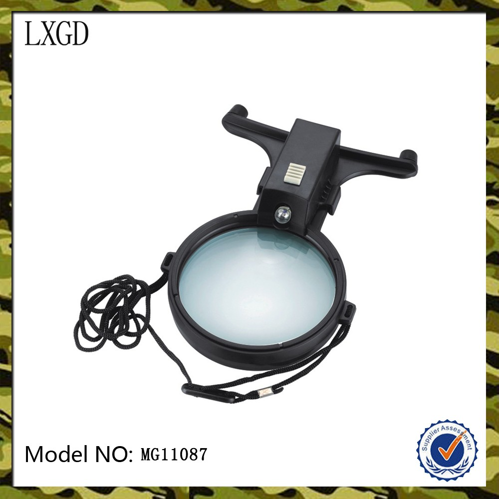 MG11087,lighted and cheap portable suspensible optical glass/ magnifier