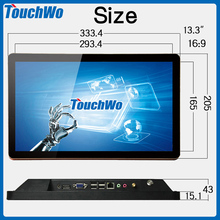 Professional touch 13.3 inch desktop mini monitor/ all in one cmputer