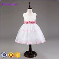 cartoon characters fancy like princess flower dresses rosette babydoll dress new baby frock design 2014