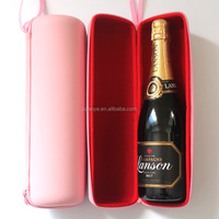 Custom Fashional red wine eva case with zipper Purse Picnic Travel Gift Red for Martell