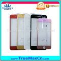 Curved Surface Silk Printing Tempered Glass Screen Protector Full Covered for iPhone 5 6 6S 7 Plus