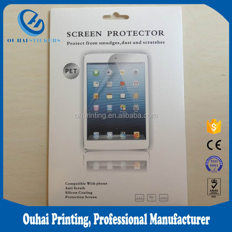 Cheap price 9H tempered glass screen protector packaging for mini ipad