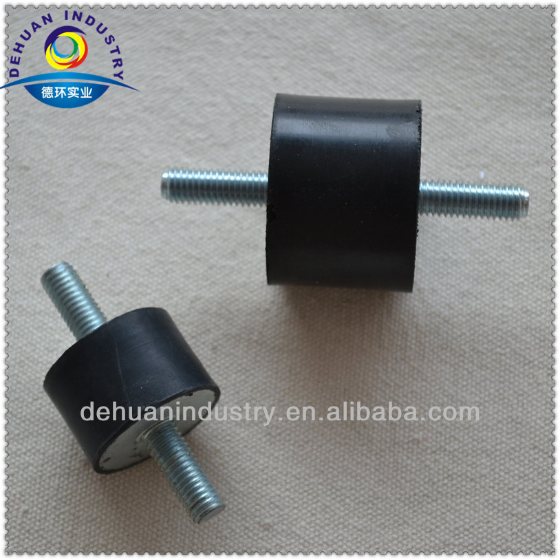 Anti vibration mounts rubber buffer with zinc plated steel stud