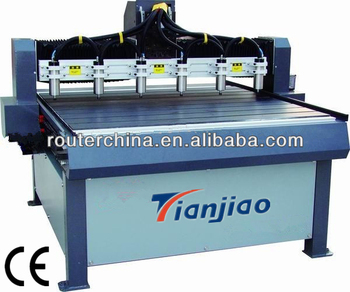 Multi-Function Heavy duty CNC Woodworking machinery with six heads(1.5Kw*6)