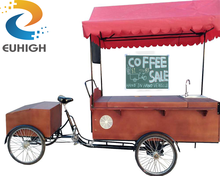 Modern design coffee vending bike electric cargo tricycle