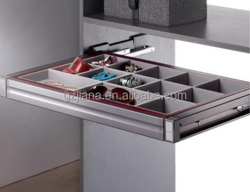Wadrobe full extension cabinet jewelry basket