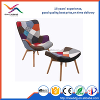 Bedroom Simple Sofa Chair With Patchwork cover