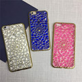New arrive 3D pattern pure color Sun flower plating TPU case for iphone 7/7 plus