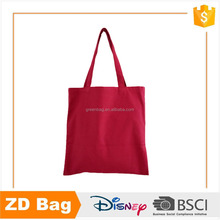 Pure solid color blank long strap canvas tote bag eco design