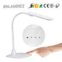Double color temperature touch Control Dimmable rechargeable LED Desk lamp