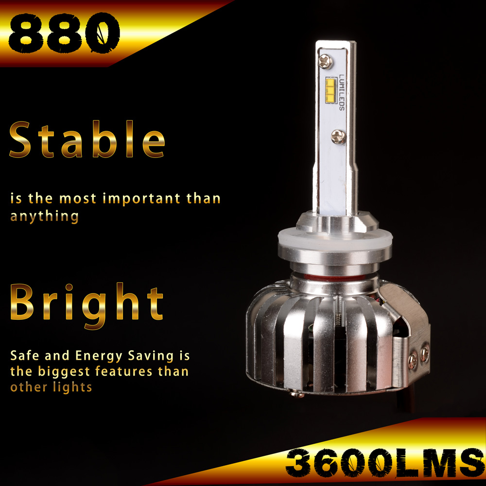 B&G 36W 3600LMS 880 881 LED Headlight bulb WITH PHILIPS LED Chips 6000K
