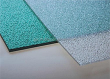 Bayer clear and colored recycled polycarbonate embossed panels