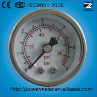 "(Y-40Z) 1.5"" 40mm back type bourdon tube small cheap air pressure manometer"