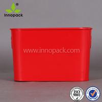 square galvanized metal tin ice bucket/beer cooler