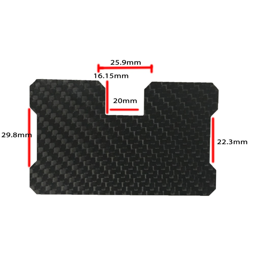 real carbon fiber business credit card wallet RFID blocking wallet
