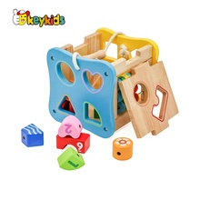 2019 Top sale multi function education wooden activity box for <strong>kids</strong> W12D088B