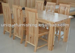 Solid Pine Wood Dining Room Furniture