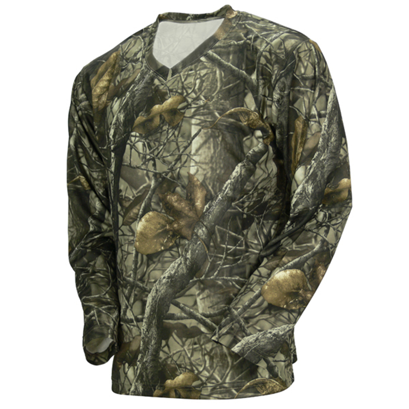 Design custom camo hunting t shirt long sleeve camouflage for Camouflage t shirt design