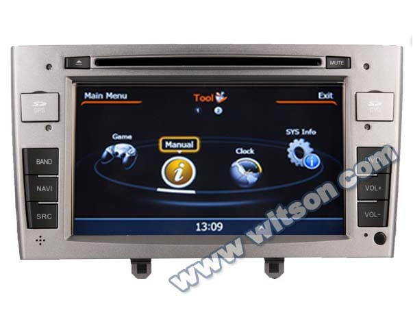 WITSON DOUBLE DIN CAR DVD GPS PEUGEOT 408 2010-2011/PEUGEOT 308 WITH A8 CHIPSET DUAL CORE 1080P V-20 DISC WIFI 3G INTERNET
