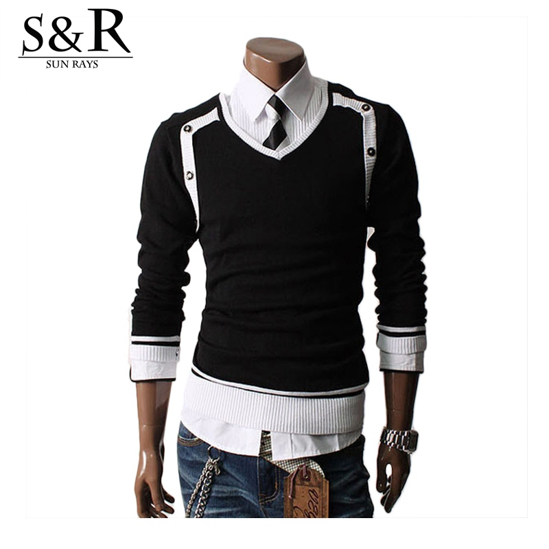 Winter Sweater Men V-neck Casual Pullover Men Knit Jumpers Sweaters Mens Long Sleeve Pullovers Famous Brand Sweater Men A963