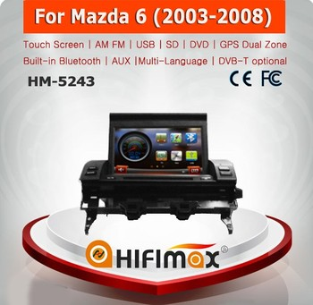 Hifimax car media player for mazda 6 2003-2008 touch screen car dvd mazda 6 mp3 player car audio system
