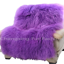 CX-D-23F Modern Genuine Mongolian Lamb Fur Blanket Home Decor