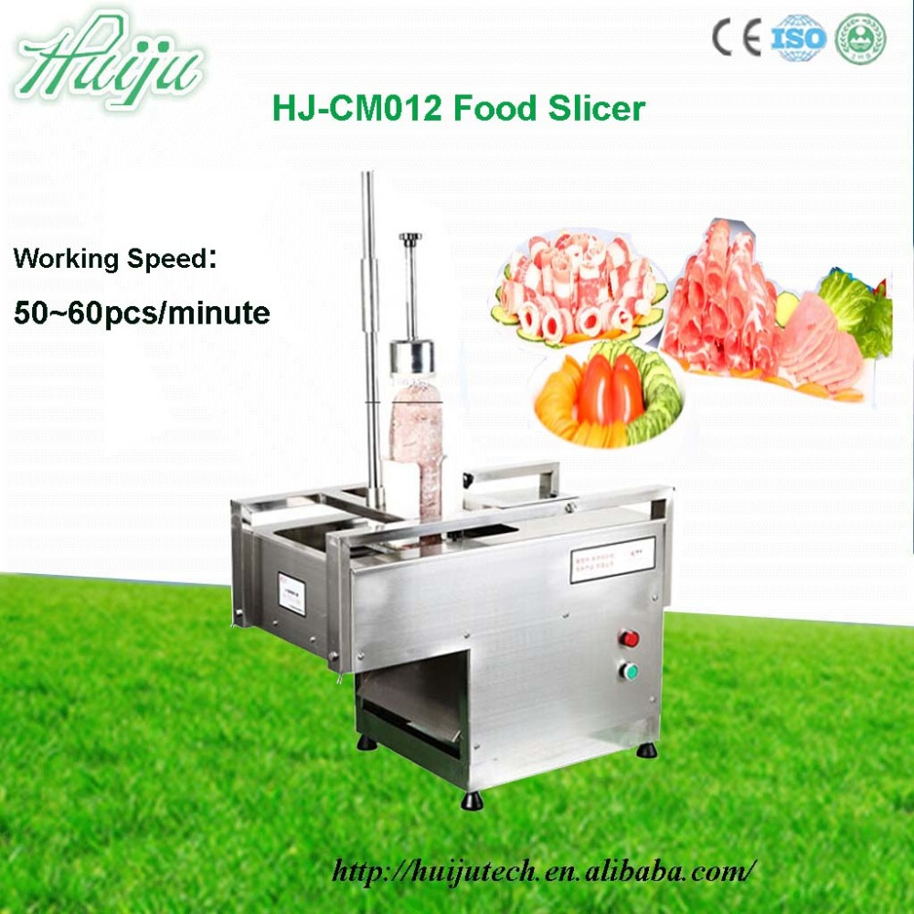 50-60pcs/min Automatic 220V/380V household meat slicer for skewer high quality Meat Processing Machinery HJ-CM012