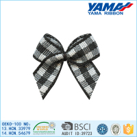 Classic black &white lattice pattern dog bows wholesale