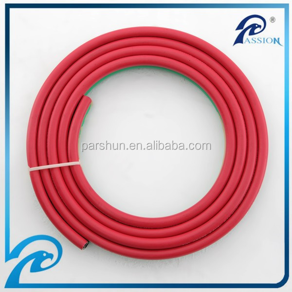 Braided synthetic polyester thread reinforced oxygen acetylene twin hose for gas soldering