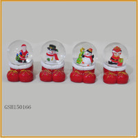 resin christmas shoe shape snow water globe