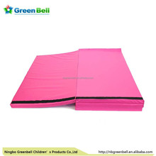 "4'x8'x2"" Thick Folding Panel Gymnastics Mat Gym Fitness Exercise pink"