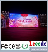 P10 Lecede indoor and outdoor transparent glass led screen /glass video wall