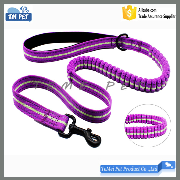 China pet accessories manufacturer adjustable dog bungee leash