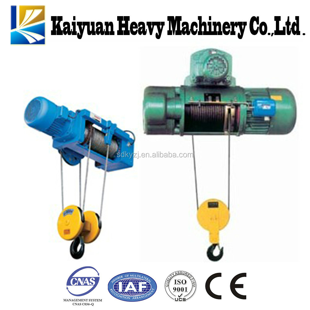 Lifting equipment 2T CD/ MD type electric hoist with wire rope for India
