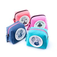 Fancy bulk wholesale custom mini linen coin purse