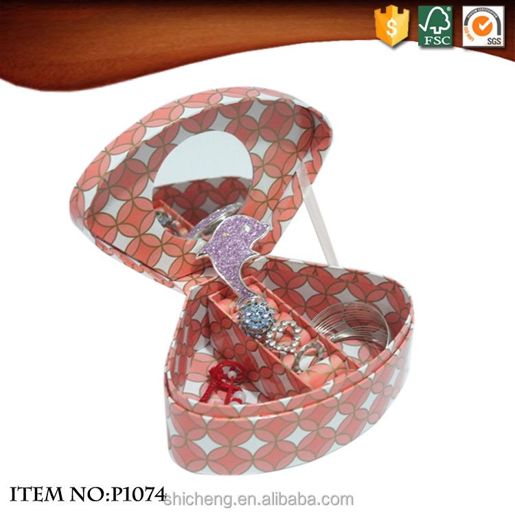 Shell Shaped Small Recycled Paper Jewelry Box