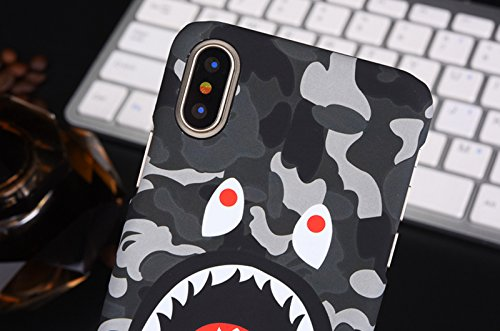 Glow In The Dark Bathing Ape Bape Shark Protective Hard Case Cover for iPhone