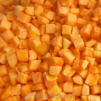 Frozen IQF Peeled Diced Apricot, Golden Sun Variety Apricot Sliced/Diced/Half halves Cut