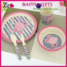 Wholesale Dishes Plate Set For Baby Kids Bamboo Fiber Dining Plate Set