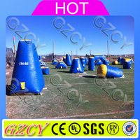 Inflatable paintball air area accessories paint ball bunkers